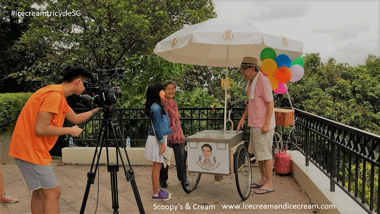 ice-cream-tricycle-singapore filming